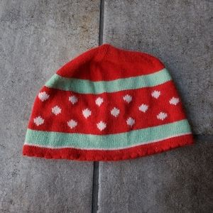 American Eagle Christmas Fitted Beanie Red Cozy